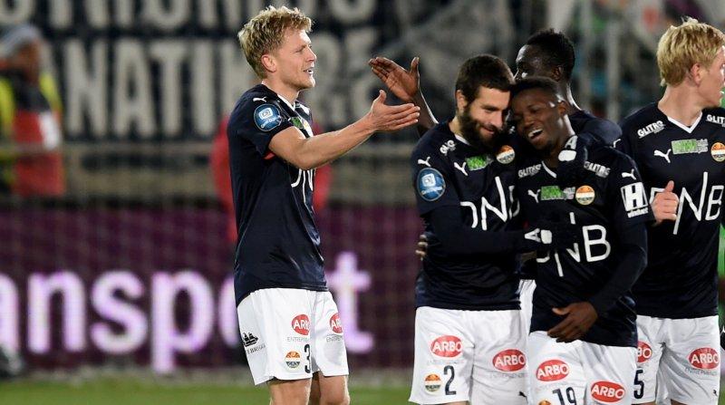 Jonathan Parr etter scoringen mot Rosenborg i 2016.