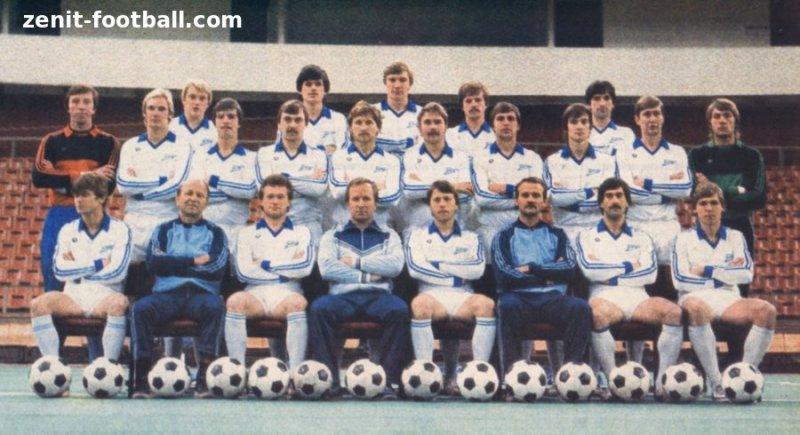 Lagbilde av Zenit fra 1984. Dimmi på bakre rad.