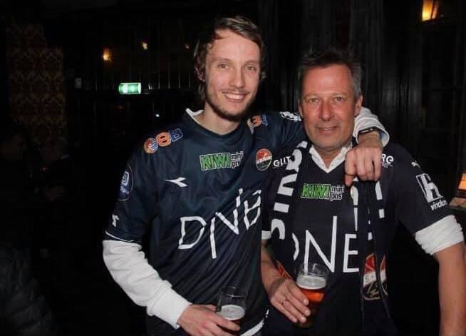 Per Arne og Olve sammen på Kings etter SIF sikret fornyet kontrakt i Eliteserien i 2018.