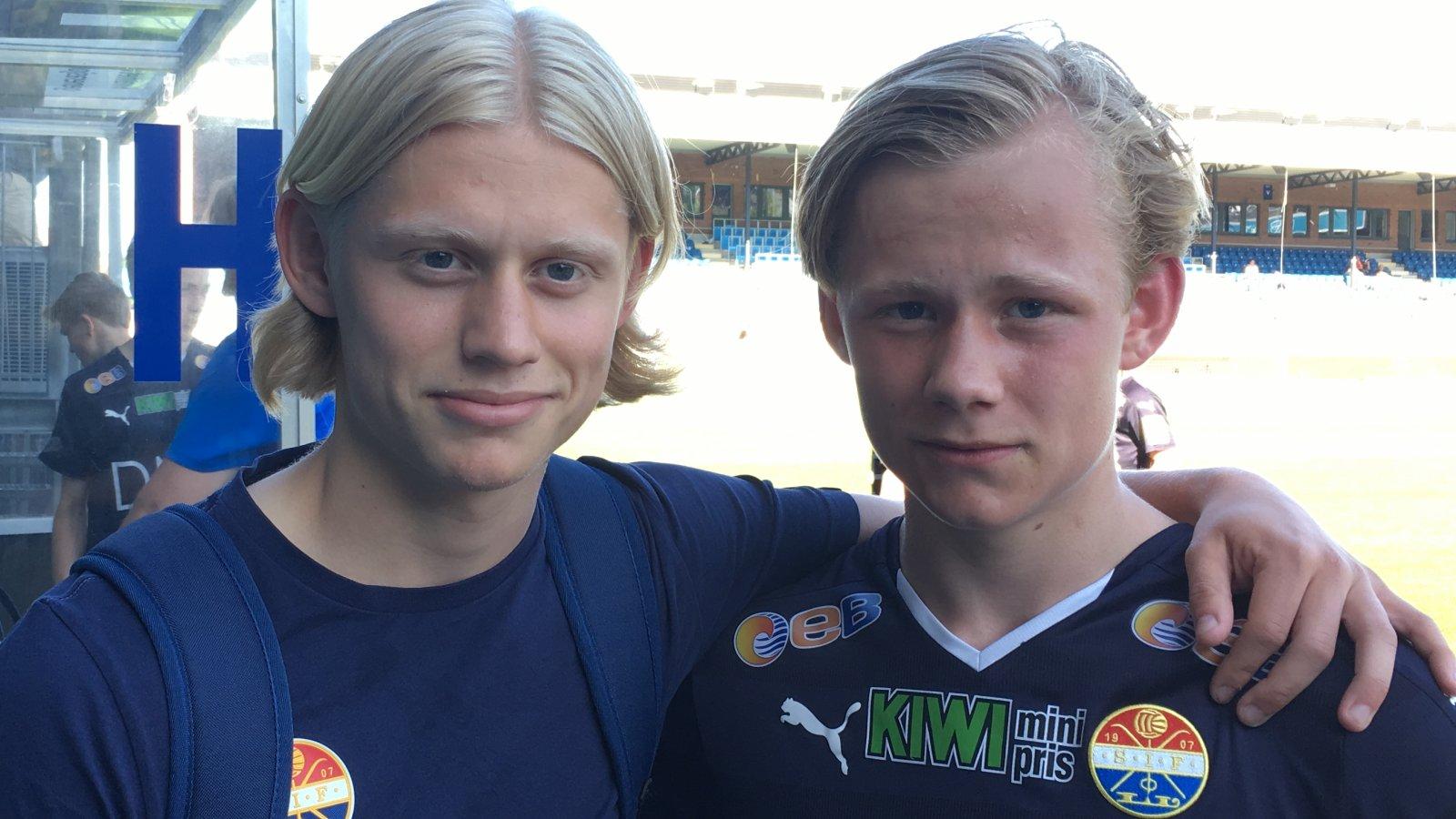 Mathias Fjeld Gulliksen (t.v.) og Tobias Fjeld Gulliksen (t.h.)