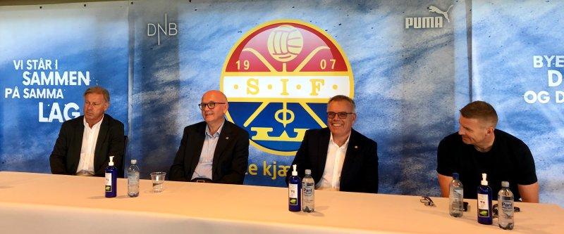 Fra onsdagens pressekonferanse på Marienlyst stadion.