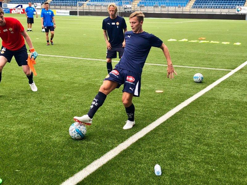 Johan Hove på Godset-trening.