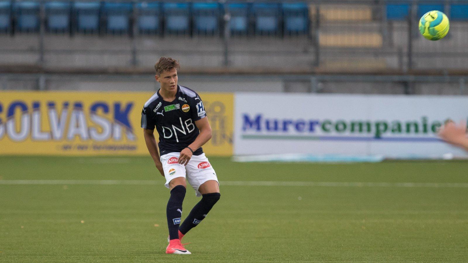David Campher for Strømsgodset 3 mot Kongsberg IF.