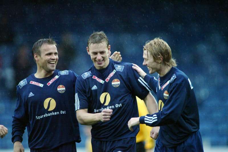 Hans Erik sammen med Lasse Olsen og Paal Christian Alsaker i 2003.